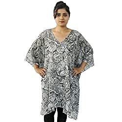 Etti Be Trendy Women's Kaftan (ES297_Black_Free Size)