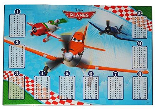 Schreibtischunterlage-Disney-Flugzeug-Planes-51-cm-36-cm-Kunststoff-PVC-Unterlage-Knetunterlage-Schreibunterlage-Tischunterlage-Rechenbungen-Rechnen-lernen-Dusty-Flugzeuge-fr-Kinder-Jungen