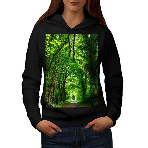 green-forest-road-nature-beauty-women-new-black-xl-hoodie-wellcoda