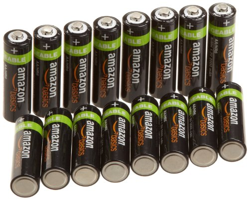 Amazonbasics Aa Nimh Precharged Rechargeable Batteries (16-Pack) 2000 Mah