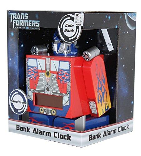 Transformers - Optimus Prime Transforming Bank Alarm Clock front-919234