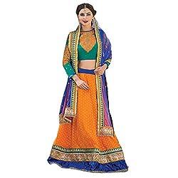 Aagaman Fashions Faux Georgette Lehenga Cholis (YTSN67007_Orange)