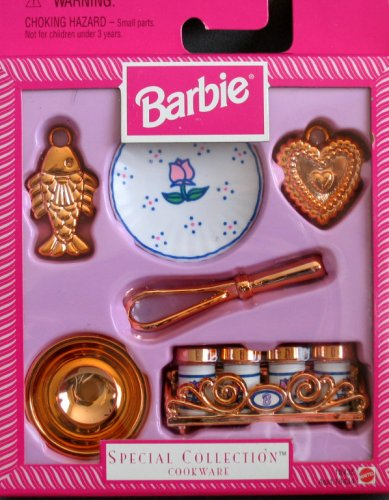 Barbie - Special Collection Cookware - 1997 Mattel Collectible Playset makes playing with Barbie doll even more fun! - Buy Barbie - Special Collection Cookware - 1997 Mattel Collectible Playset makes playing with Barbie doll even more fun! - Purchase Barbie - Special Collection Cookware - 1997 Mattel Collectible Playset makes playing with Barbie doll even more fun! (Barbie, Toys & Games,Categories,Dolls,Playsets,Fashion Doll Playsets)