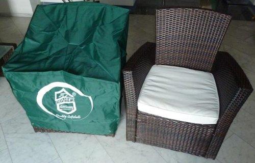 Schutzhülle Rattanmöbel -Rattan Lounge Sessel / Gartensessel 75x70x65cm. jetzt bestellen