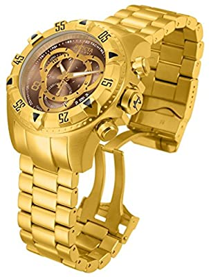 Invicta Men's 'Excursion' Swiss Quartz Stainless Steel Casual Watch, Color:Gold-Toned (Model: 14474)