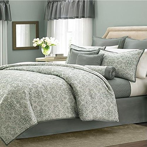 Martha Stewart Regal Filigree 22 Piece Queen Comforter Bed in Bag -...
