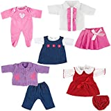 You & Me 5 Pack 12-14 inch Doll Playtime Outfits