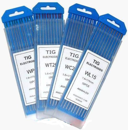 "Buy 10 TIG Welding Tungsten Electrodes 2.0% Lanthanated (Blue), 3/32""x7"" (10Pk Box)"