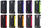 """myLife Black and Orange - Classic Rugged Design (2 Piece Hybrid Bumper) Hard and Soft Case for the Samsung Galaxy S4 """"Fits Models: I9500 I9505 SPH-L720 Galaxy S IV SGH-I337 SCH-I545 SGH-M919 SCH-R970 and Galaxy S4 LTE-A Touch Phone"""" (Fitted Back Solid Cover Case + Internal Silicone Gel Rubberized Tough Armor Skin)"""