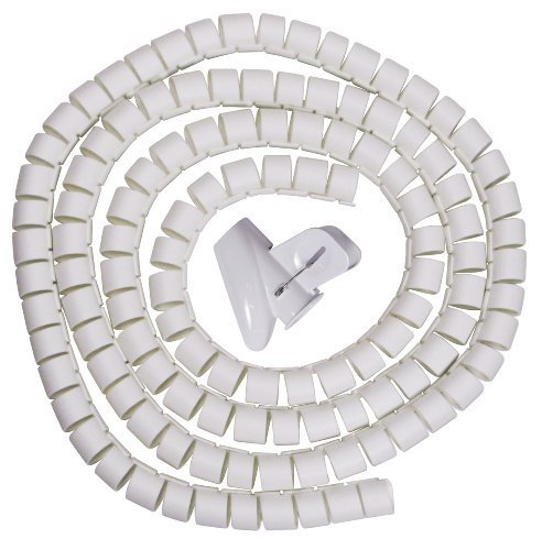 Evriholder Cable Zipper Cord Organizer Kit, White, Large