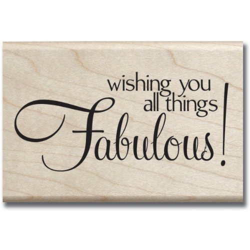 Hampton Art Fabulous Wood Rubber Stamp - 1
