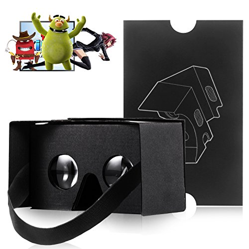 Lowest Prices! Kollea Google Cardboard V2.0 3D Glasses Virtual Reality DIY Kit - More Comfortable an...