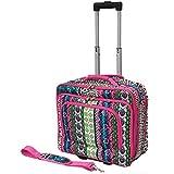 World Traveler Fashion Print Women's Rolling 17-inch Laptop Case - Bohemian