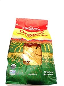RW Garcia Tortilla Chips, Organic Yellow Corn, 32 Ounce