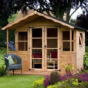 Premium T&G Summerhouse with 3 Doors Size: 227 cm H x 244 cm W x 252 cm D by Mercia Garden Products