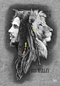 Marley, Bob Lion Face - Posterflagge 100% Polyester