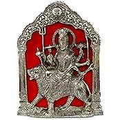 Rastogi Handicrafts Silver Plated Maa Durga Idol Wall Hanging Statue Figurine