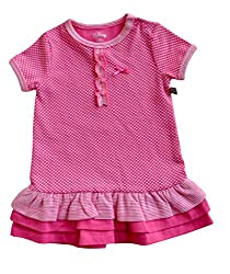 Babeez Baby Girl All over printed Dress with fringes at the bottom hem (95% Cotton 5% Elasthan) to fit height 86 - 92cms