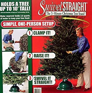 #!Cheap Swivel Straight 1-Minute Christmas Tree Stand - For Real Trees Up To 10'