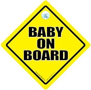 Bebé A Bordo De Signo, Baby on Board, Amarillo, Tradicional bebé a bordo de signo, Unisex bebé a bordo de signo, signo de bebé, Pegatina, Adhesivo Para Parachoques, Nieto A Bordo, Maternidad Señal, nuevo bebé señal, Bebé a bordo señal - BebeHogar
