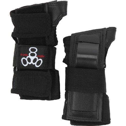 Triple 8 Saver Series Wristsavers (Black, Large)