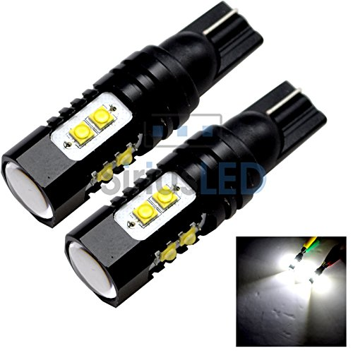 New Pair Of 50W Equivalent 192 921 T10 High Power Projection Led Drl Reverse Light