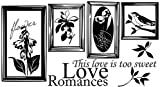 Sweet Romance Portrait - Reusable Instant Decor Self-Adhesive Matte Vinyl Sticker Decal