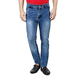 Mens Jeans Offer Low Price Deal Slim Fit Regular Waist (Blue, 28)