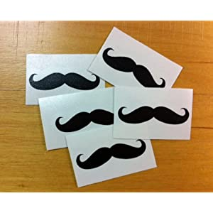 Mustache Sticker Decal 5 Pack