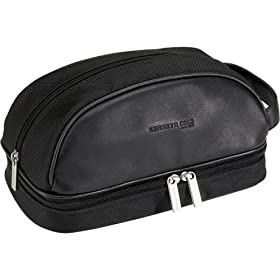 Kenneth Cole Reaction Business and Luggage Nylon and Leather Travel Kit