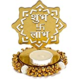 Giftacrossindia Exclusive Shadow Diya Tealight Candle Holder Of Removable Shubh Labh For Diwali Home Decor Gift...
