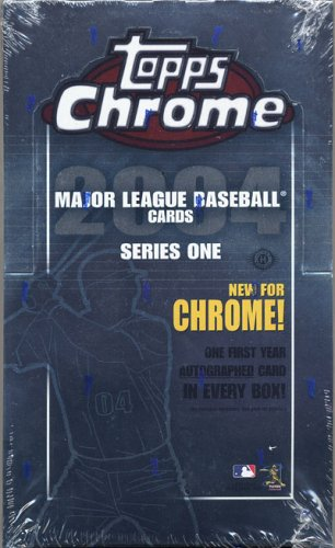 2004 Topps Chrome Baseball Cards Series 1 Hobby Box