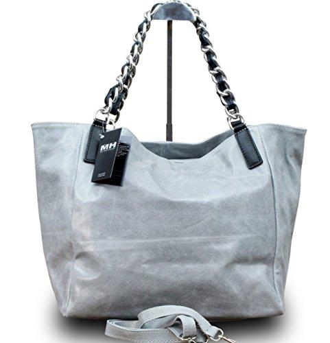 made-in-italy-luxus-damen-schultertasche-shopper-donna-bella-kette-leder-farbegrau