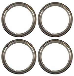 Set of 4 Chrome plated Steel 15″ Universal 1.75 inch Beauty Trim Rings 1515C