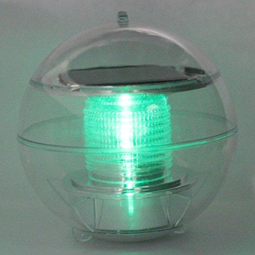 Great value night lights new solar power floating led for Solar fish pond filter