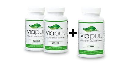 viapur® CLASSIC, Aminosäuren, Mineralstoffe und Vitamine, 2 Dosen + 1 Dose Gratis, ausreichend fur 3 Monate
