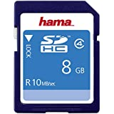 Hama HighSpeed SDHC Card 8GB Speicherkarte, Class 4