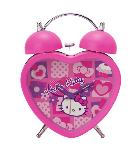 HELLO KITTY PINK HEART ALARM CLOCK