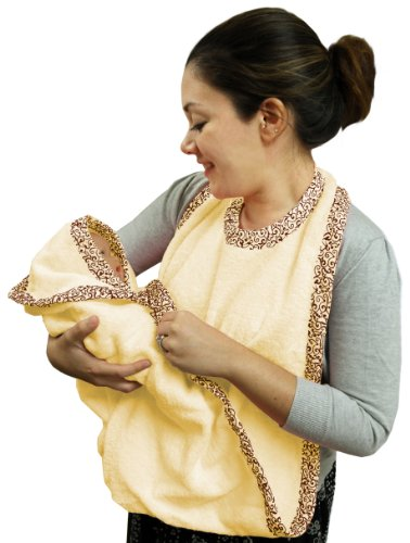 Extra Large Hands Free Absorbent Hooded Towel, Yellow, Frenchie Mini Couture
