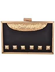 2AM Party On Black Box Women's Sling Bag (Black And Gold)(Sku00Clpb)