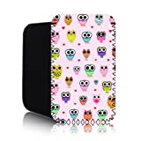 CUTE OWLS Pattern [PINK] Nokia Lumia 820 (L) Shock Resistant Neoprene Mobile Phone Case, Cover, Pouch
