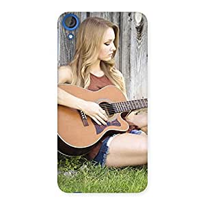 Special Guitar Girl Multicolor Back Case Cover for HTC Desire 820s