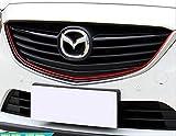 (boosy) マツダ 装飾 テープ 内装 外装 各車種 対応 ドレスアップ (エクステリア 赤 1.5m)