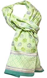 Anokhi 100% Cotton Voile Blueberry Hill Fashion Scarf