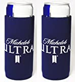 Michelob Ultra Slim Can Licensed Beer Koozie Holder Huggie 2-Pack