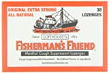 Lofthouse's Fisherman's Friend Menthol Cough Suppressant Lozenges, Original Extra-Strong , 38-Count Packs (Pack of 6)