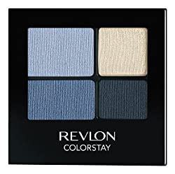 REVLON Colorstay 16 Hour Eye Shadow Quad, Serene, 0.16 Ounce