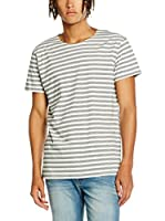 Cheap Monday Camiseta Manga Corta Standard Tee Multi Stripe (Blanco / Gris)