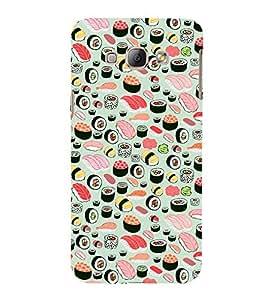99Sublimation Food Pattern 3D Hard Polycarbonate Back Case Cover for Samsung Phones