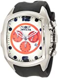 Invicta 10063 Men's Lupah Revolution White & Orange Dial Rubber Strap Chronograph Watch